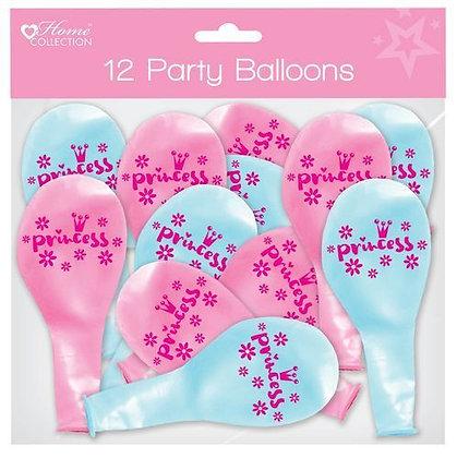 12 Princess Balloons