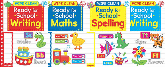 Educational Wipe Clean Books With Pen