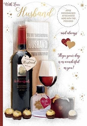 Personalise Husband Birthday 40th - 70th