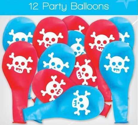 12 Pirate Balloons