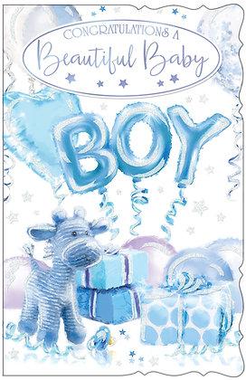 8 Page Congratulations Baby Boy