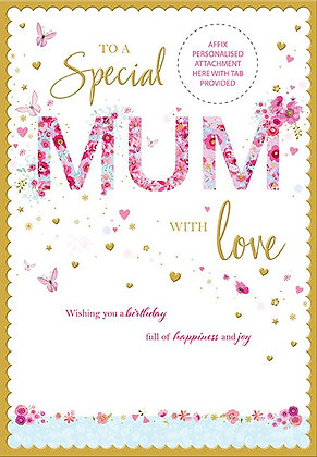 50 60 70 or 80th Personalise Mum Birthday