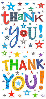 8 x Thank You Cards (2 Designs)