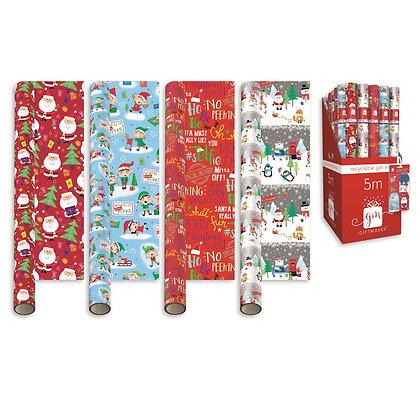 5M Christmas Roll Gift Wrap