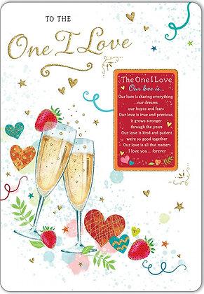One I Love Keepsake Card
