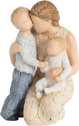 Mother & Children - Contentment Figurine