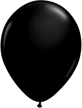 "8 x 11"" Black Balloons"