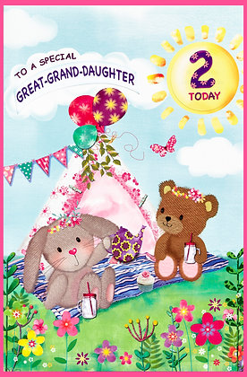 Age 1 or 2 Personalise Own Card