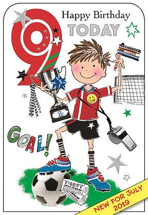 Happy 9th Birthday - Football