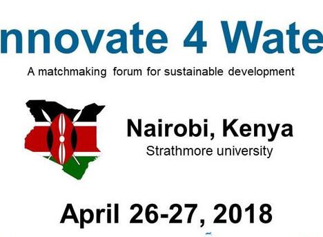 Innovate 4 Water Nairobi - April 26-27 2018