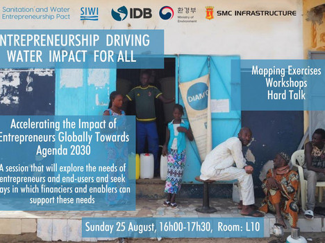 Stockholm World Water Week Seminar: Entrepreneurship driving water impact for all