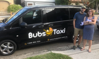 Bubs Taxi service with baby seats