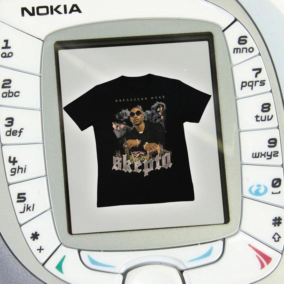 Skepta Tee on Nokia Brick Phone