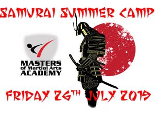 Samurai Summer Camp - Friday 26th July