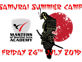 Samurai Summer Camp - Friday 26th July