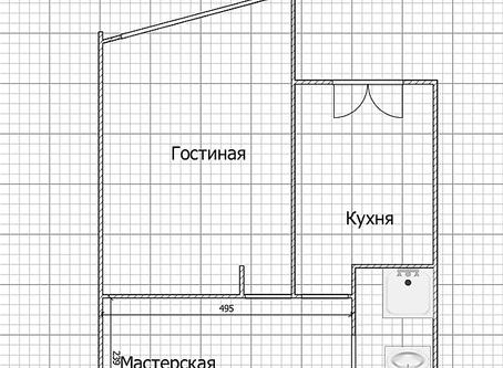Коридор-холл-вітальня (или 6 дверей на 6 кв.м.) ч.1
