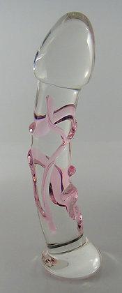 Medium Pink Vein Textured Dildo
