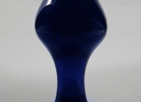 Small Blue Rosebud Plug