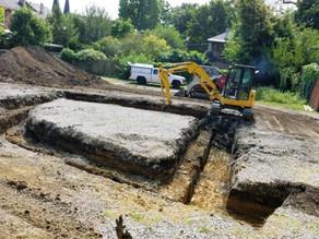 Excavation has begun!