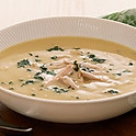 Chicken Soup with White Sauce