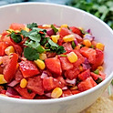Corn and Strawberry Salad