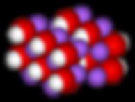 Sodium hydroxide crystal 3D Natriumiumhydroxid Kristall