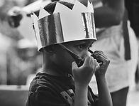 Boy Wearing Crown