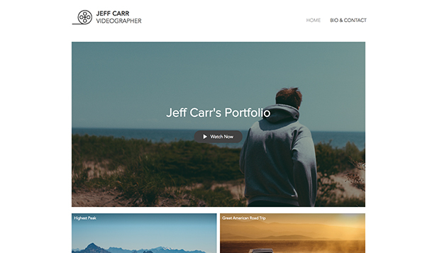 Portfolios website templates – Videographer