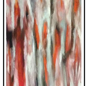 Red Gum, 2015, oil on canvas board
