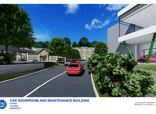 Canton commission continues hearing on EV showroom, related development