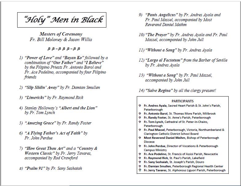 Holy Men in Black Programme.PNG