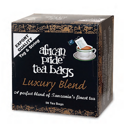 African Pride Luxury blend tea (tag & string) 100g