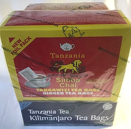 Tea collection, 3 packs (2x100g; 1x 250g- loose tea)- get 1 free