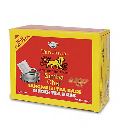 Simba (Lions) Chai, ginger tea bags- 100gm