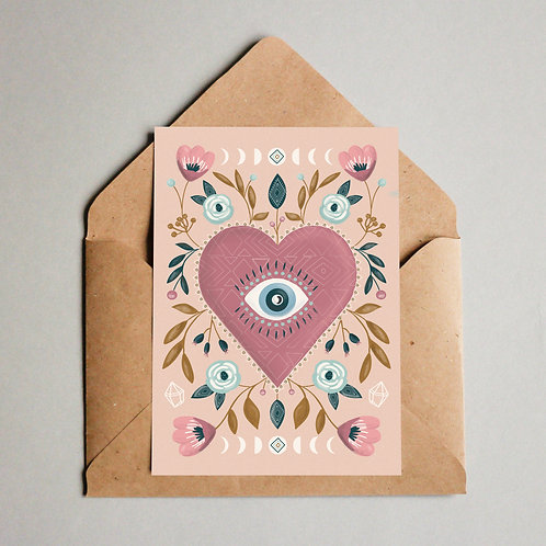 Visualise Third Eye Heart Card
