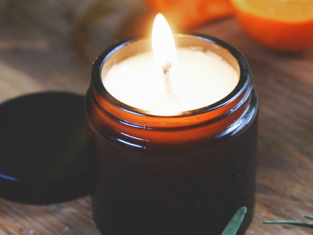 Sweet Orange And Rosemary Soy Wax Candle