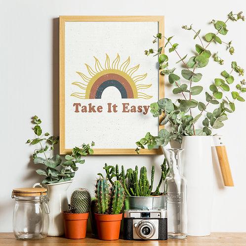 Take It Easy Rainbow Print