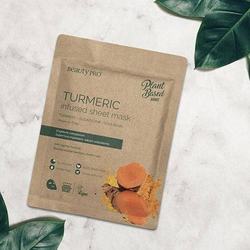 BeautyPro Plant Based Turmeric Infused Sheet Mask