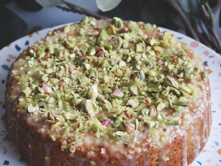 Pistachio And Lemon Cake (Vegan)
