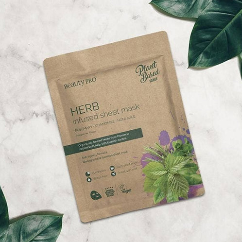 BeautyPro Plant Based Herb Infused Sheet Mask