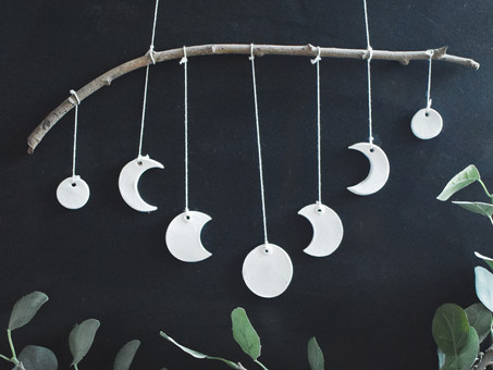 Moon Phases Clay Hanging