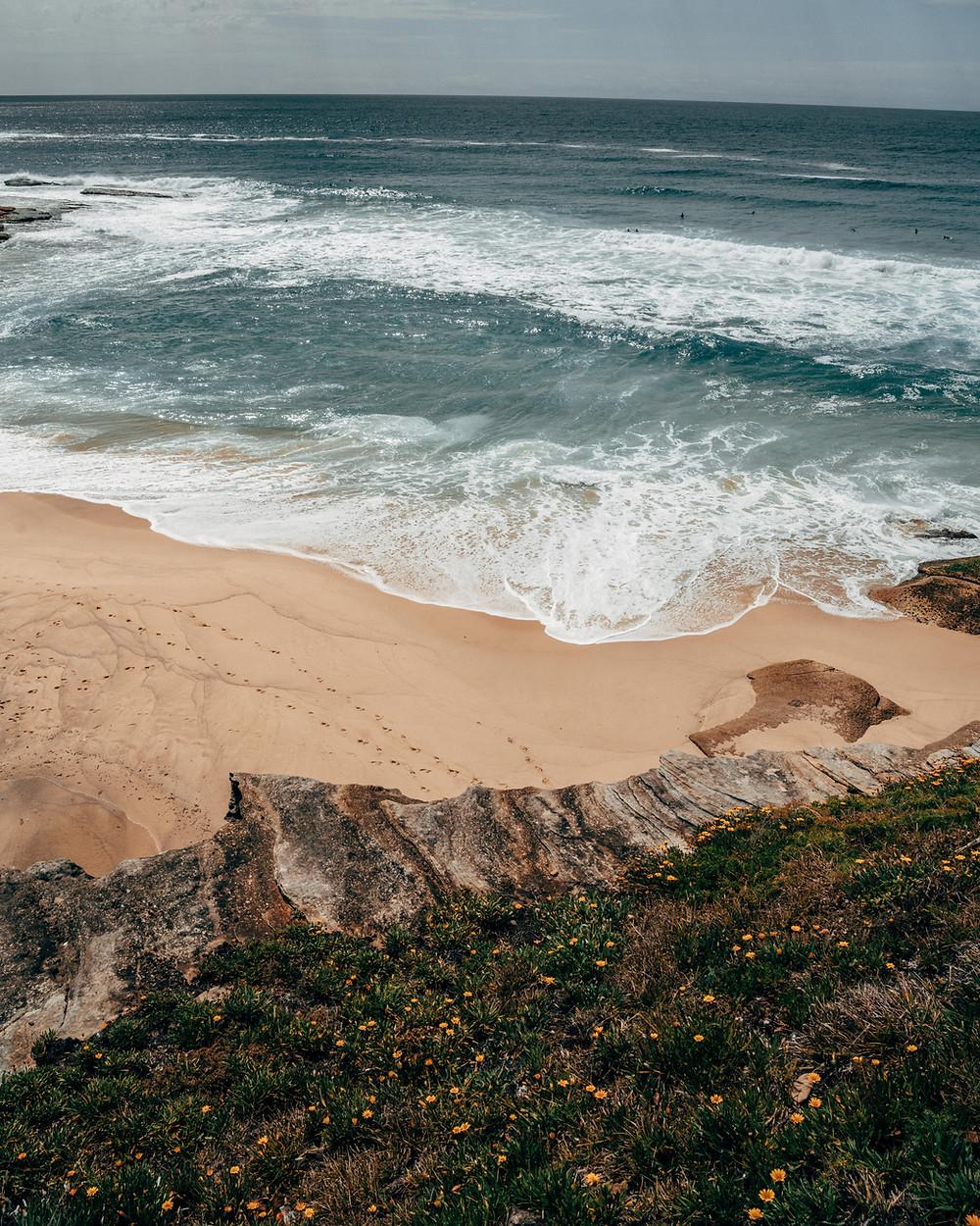 Pristine beach at Bondi Beach