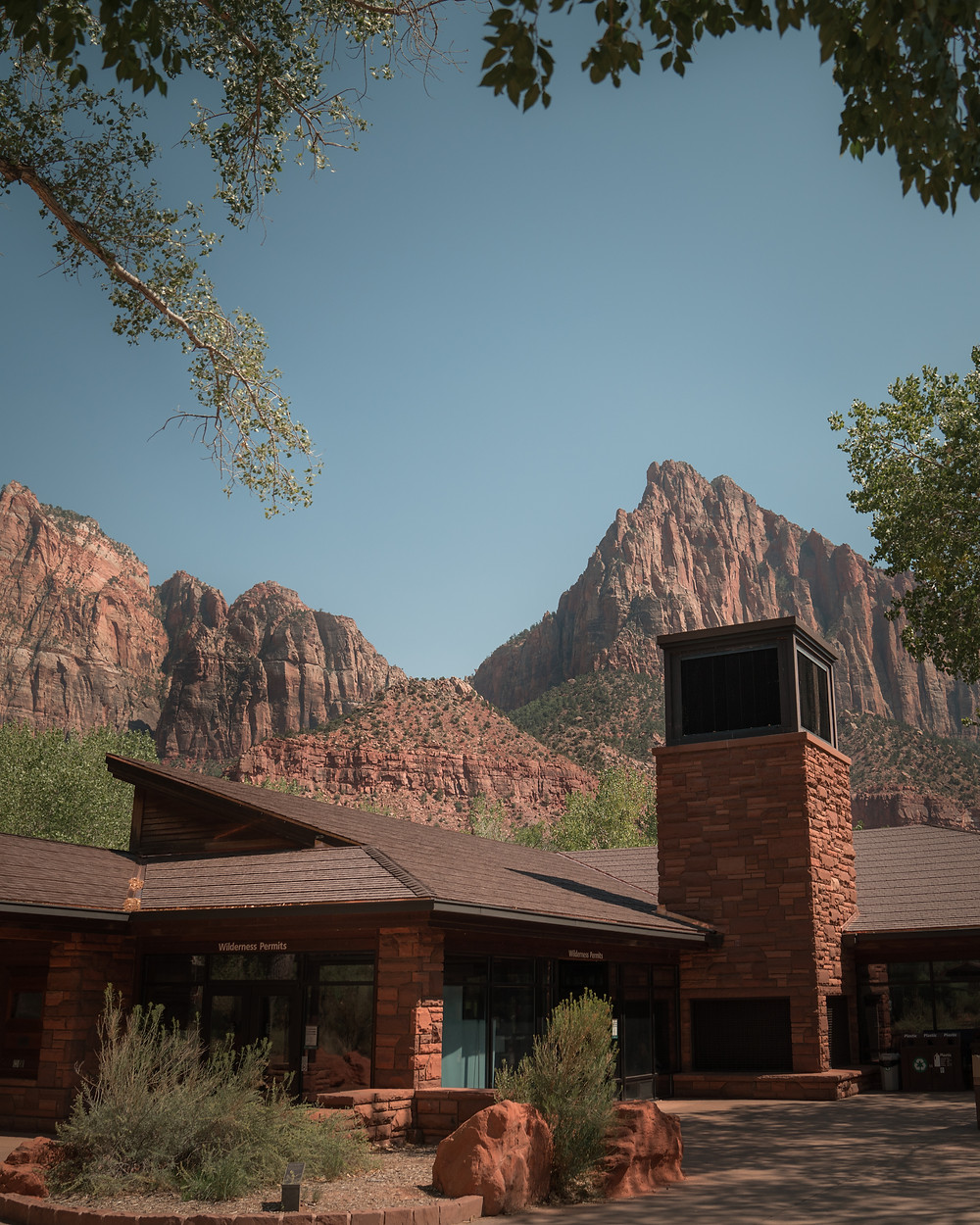 Visitor center at Zion national park