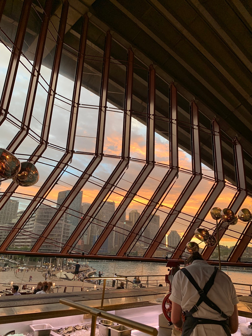 Bennelong Restaurant and Bar at the Sydney Opera House at Sunset