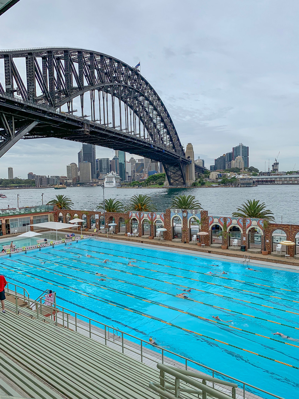 Views of Sydney and Sydney Harbor from the North Sydney Olympic Pool