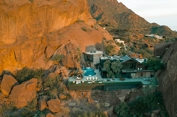 Scottsdale Mansion built in to the Camelback Mountain