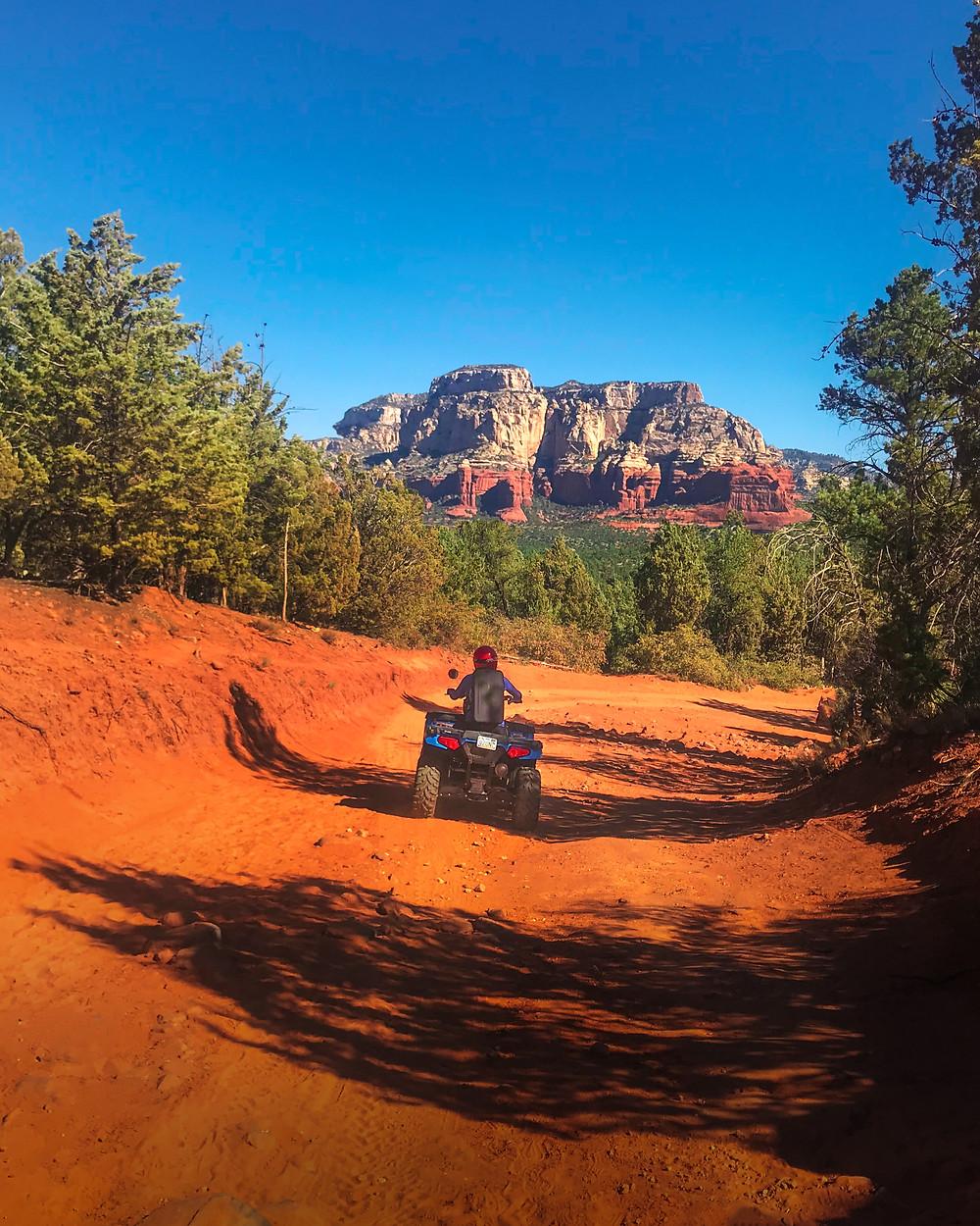 atv rider on the Sedona trails