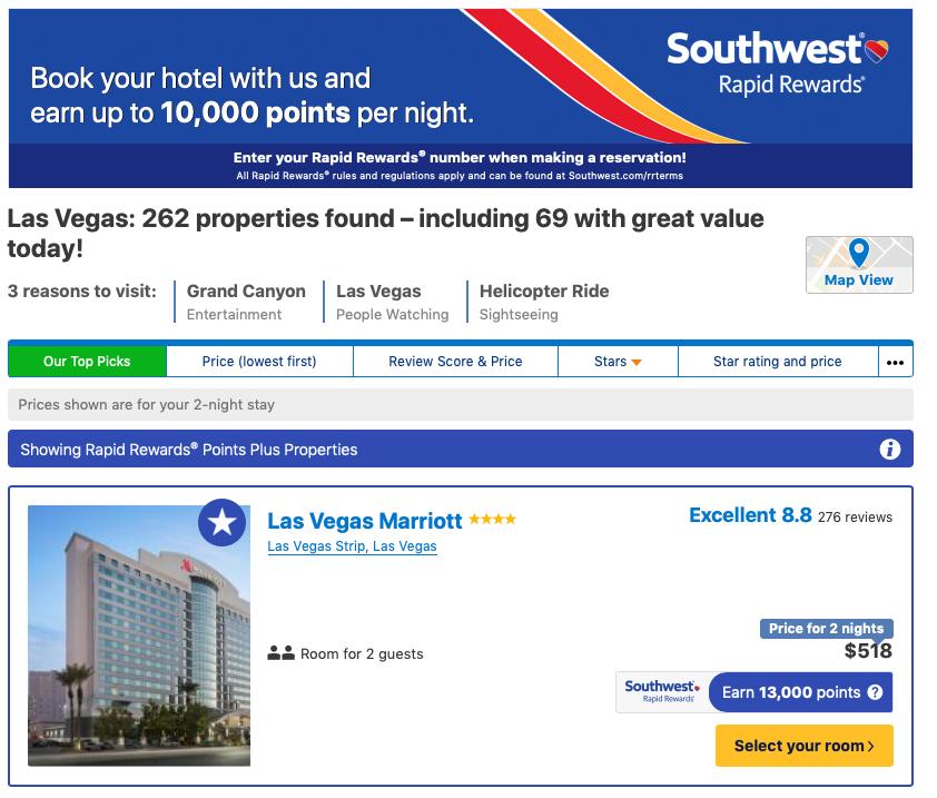 Southwest Airlines Bonus Miles Travel Portal