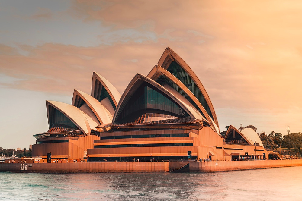 Sydney Opera House at Sunset from a Ferry