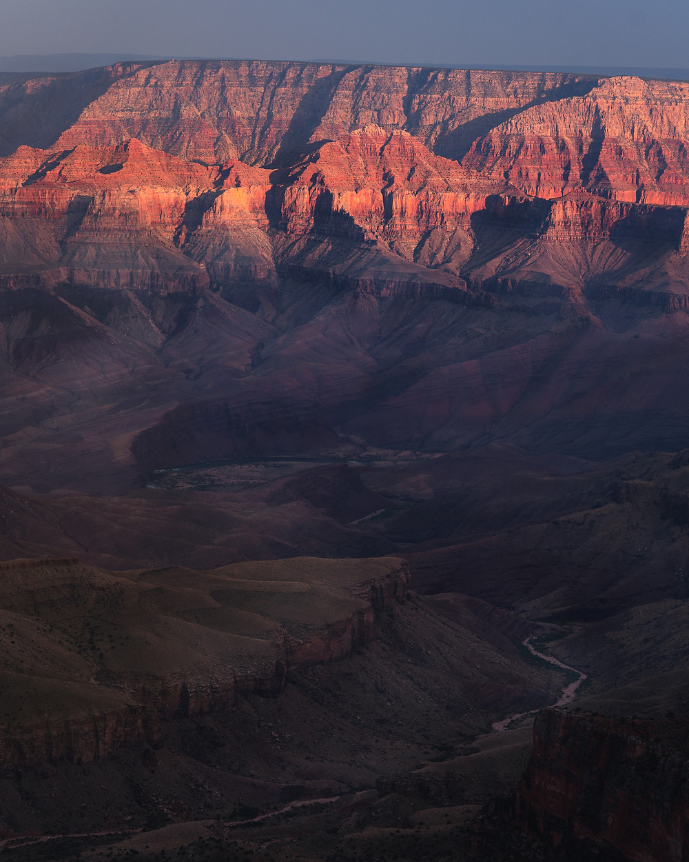 light and shadows of the grand canyon